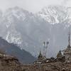 Leaving Gatlang village along the Tamang Heritage Trail in Nepal.