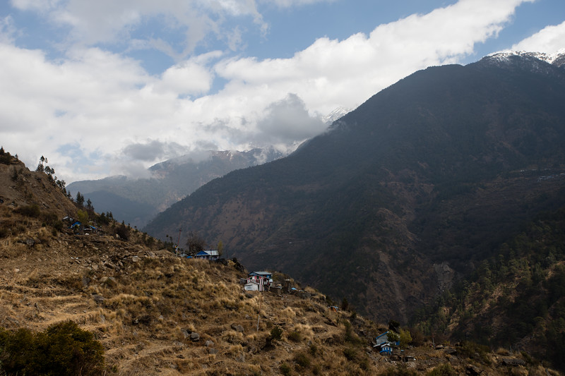 House on the edge of Mendo village along the descent from Thume village along the Tamang Heritage Trail in Nepal.