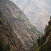 A small mountain canyon below Gatlang village along the Tamang Heritage Trail in Nepal.