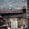 Street scene in Gatlang village along the Tamang Heritage Trail in Nepal.