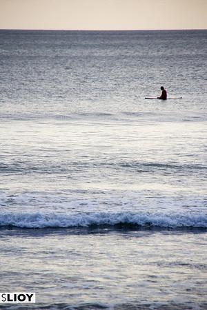 On the waves in Kuta, Bali.