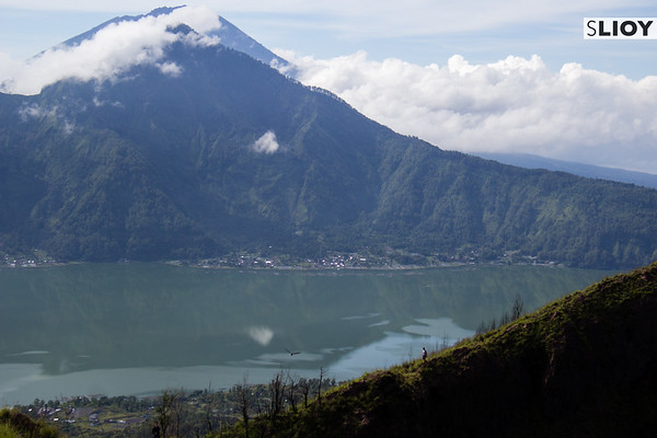 View from the top of Gunung Batur in Bali, Indonesia.