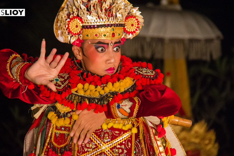 Portrait from a traditional dance performance in Bali, Indonesia.