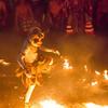 Monkey god Hanuman dancing in fire at the kecak dance in Bali's Uluwatu temple.