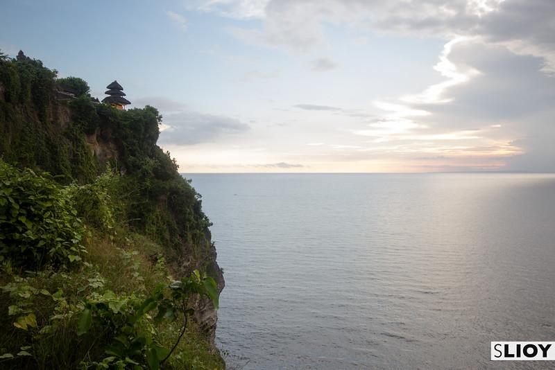 Uluwatu temple on a cliffside in Southern Bali.