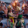 Beginning of the Uluwatu Temple Kecak Dance in Bali.