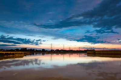 After Sunset - Test Estuary, Redbridge