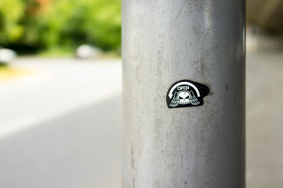 20160725 The Sticker on the Post