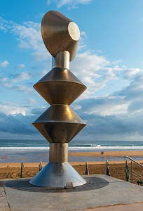 Statue at Zarautz Beach Promenade