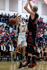 West Side 47 v  Soda Springs 51 District Playoff-99