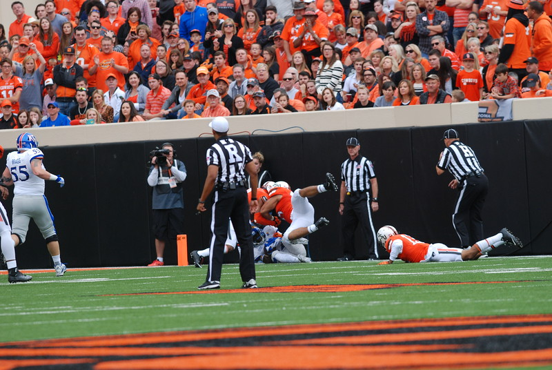 Oklahoma State University Cowboys vs. Kansas University Jayhawks in NCAA Football in Stillwater, OK on Oct. 24, 2015. Photos by Mitchell Alcala/OstatePhoto.com
