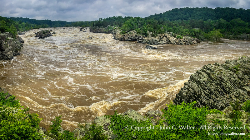 The Potomac River at Great Falls, Virginia