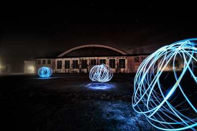 Light painting - Hangar B