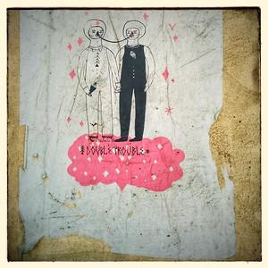 Double trouble street art in Vilnius