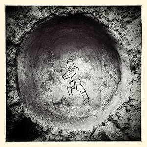 Sisyphus, street art in Vilnius