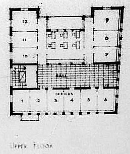 Upper Floor Plan, 1936