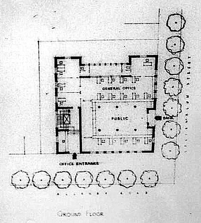 Ground Floor Plan, 1936