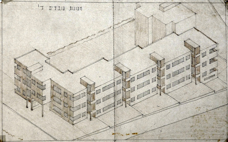 Axonometric View of Block IV