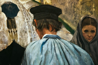Christian Krohg - Landsbygate i Normandie, 1882 (detalj)