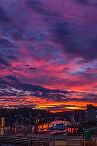 Sunrise in Friday Harbor