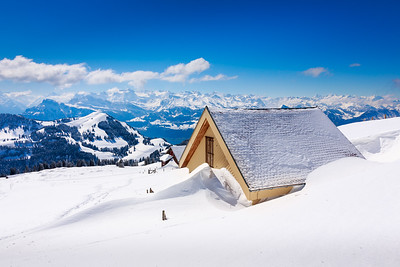 Snow covered / Rigi Kulm, Switzerland