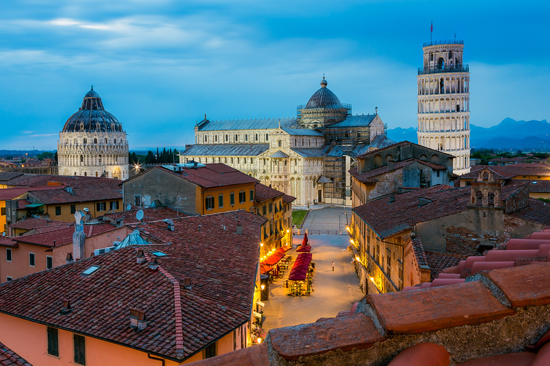 Over the roofs of Pisa / Pisa, Italy