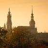 Golden glow / Dresden, Germany