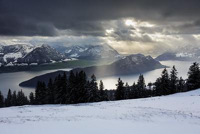 Winter panorama / Rigi Kaltbad, Switzerland