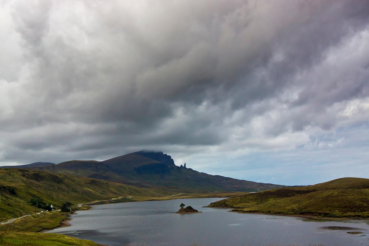 The Storr across from Loch Fada
