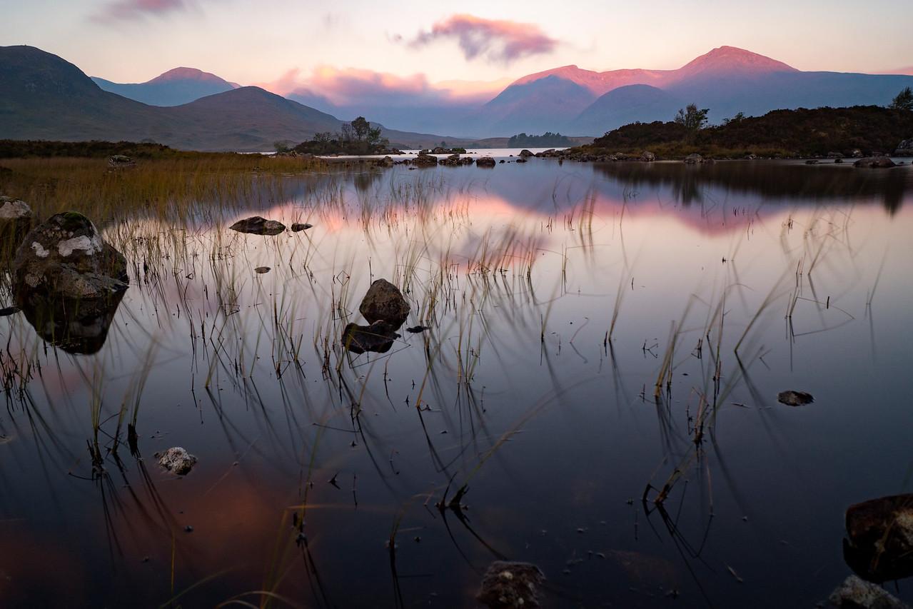 Lochan na h-Achlaise at Sunrise
