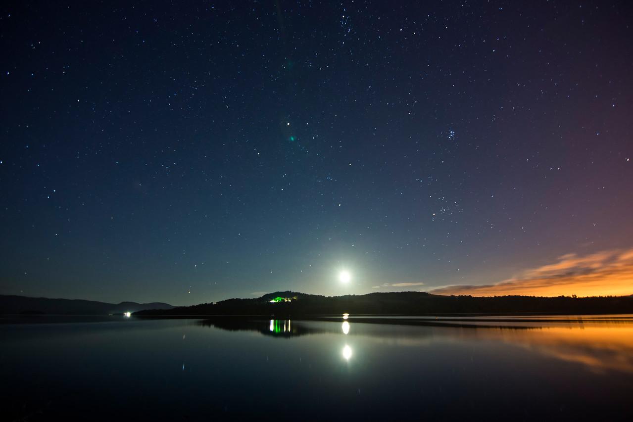 The Moon over Loch Lomond