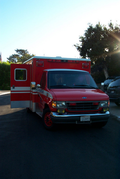 Ambulance we took to the hospital for Benjamin's birth.