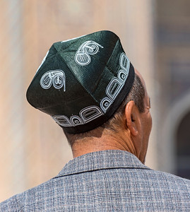 Traditional Uzbek Tubeteika Hat