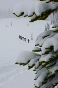 Skinning, Valhalla Range, British Columbia