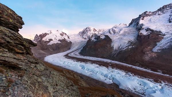 Gorner glacier timelapse / Zermatt, Switzerland