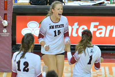 WAC Volleyball Tournament Semifinal - No. 1 New Mexico State vs. No. 5 UT Rio Grande Valley