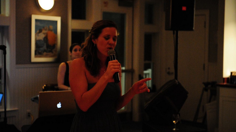This was without a doubt the BEST performance by a guest at a wedding! I wish I had recorded the entire thing, because I could listen to it over and over! Julie- you have an amazing voice!