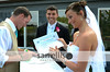 Heather's pointing out where it says they are not related by blood or marriage on the Certificate of Marriage!