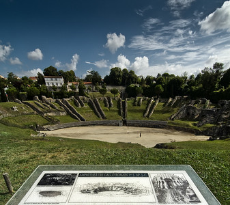 Roman amphitheater - site map