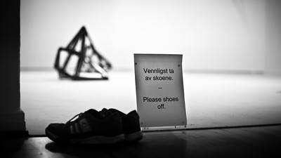 Shoes off