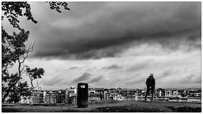 A man and a bin