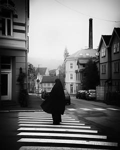 Walk on the crosswalk