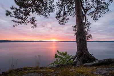 Solnedgang over Langøya