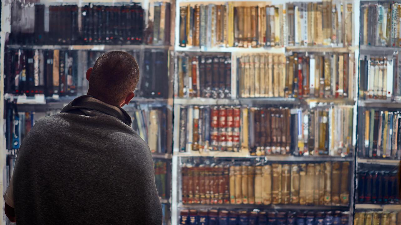 """""""Bibliotek"""" (watercolour) - Lars Lerin"""