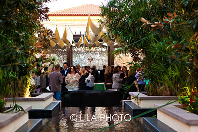 Overview of Ritz-Carlton Eau Spa filled with guests for the Young Friends Historical Society of Palm Beach
