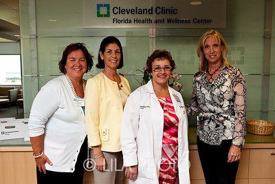 L to R:  Graham Russell Nance Crockett, RN, Dr. Claudia Mason, and administrator Jill Burgess.