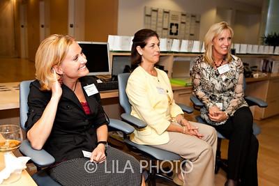 L to R:  Stephanie Rapp, Nance Crockett, RN, and administrator Jill Burgess.