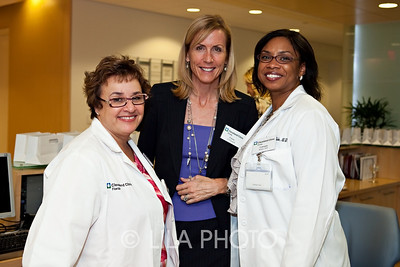 L to R:  Dr. Claudia Mason, Carey O'Donnell, and Dr. Cassann Blake