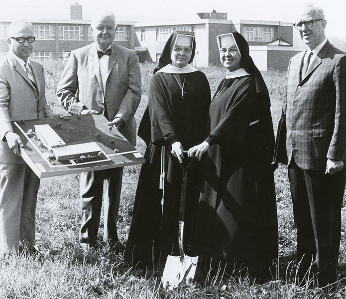 Bernardine Hall groundbreaking 1968