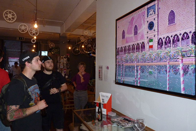 "Jeff Parr Velo-Art Exhibition ""Ultimo Giro"""